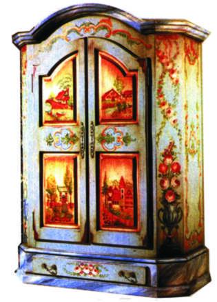 Muebles artisticos ruben ornelas movimiento de arte - Muebles decorados a mano ...